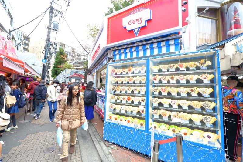 TOKYO JAPAN: Takeshita StreetTakeshita Dori royaltyfria foton