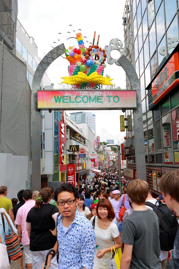 TOKYO, JAPAN: Takeshitastraat (Takeshita Dori) stock afbeelding