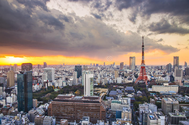 Download Tokyo, Japan stock image. Image of sunset, place, clouds - 34812301