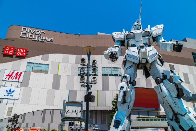 TOKYO JAPON - 1ER AOÛT 2018 : Beau géant Unicorn Gundam Model photos stock