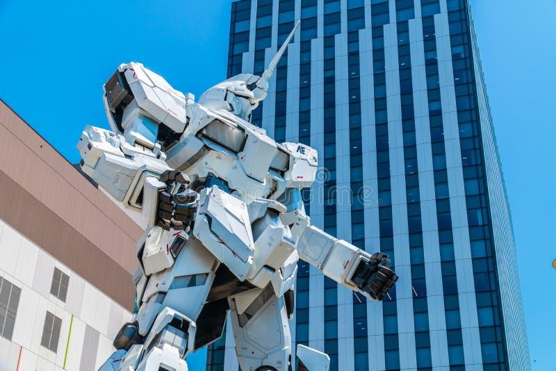 TOKYO JAPON - 1ER AOÛT 2018 : Beau géant Unicorn Gundam Model images stock