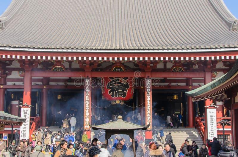 Tokyo, Japon - 7 février 2014 : temple de Senso-JI, Asakusa, Tokyo, Japon photos libres de droits
