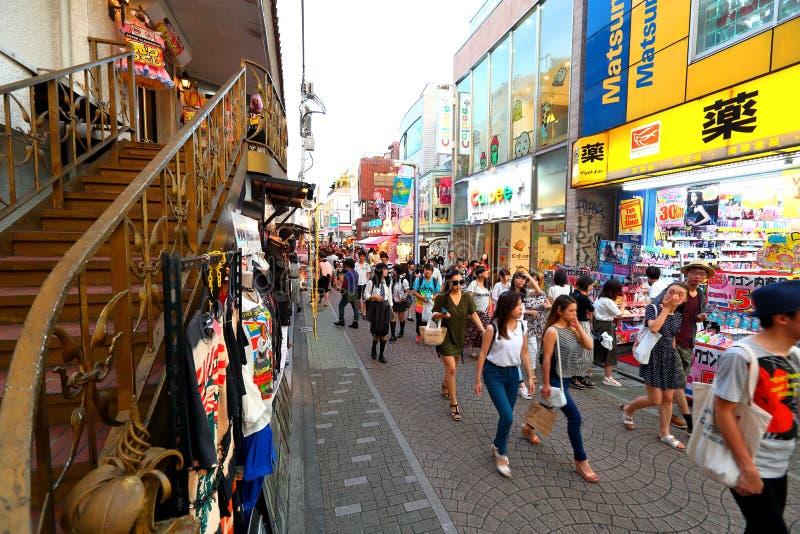 TOKYO, JAPON : Rue de Takeshita (Takeshita Dori) images libres de droits