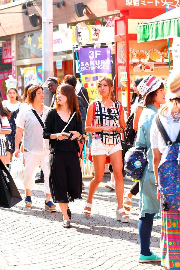 TOKYO, JAPON : Rue de Takeshita (Takeshita Dori) photographie stock libre de droits