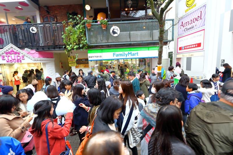 TOKYO, JAPON : Takeshita StreetTakeshita Dori images libres de droits