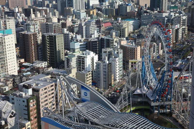 Tokyo kupolstad fotografering för bildbyråer