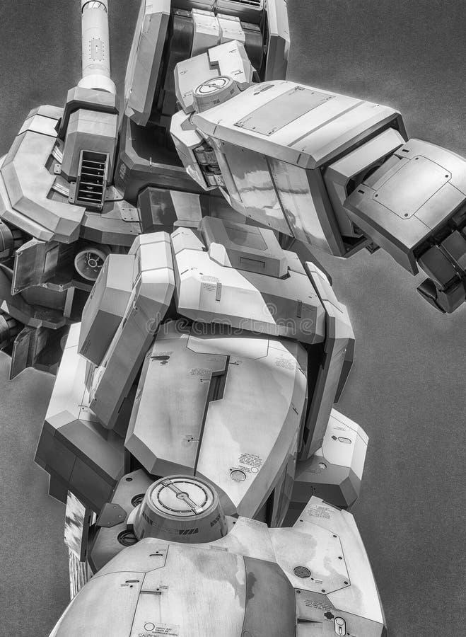 TOKYO - 22 MAGGIO 2016: Vestito mobile 100% Gundam Alla conduttura immagini stock