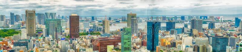 TOKYO - 20 MAGGIO 2016: Vista aerea panoramica in bianco e nero immagine stock