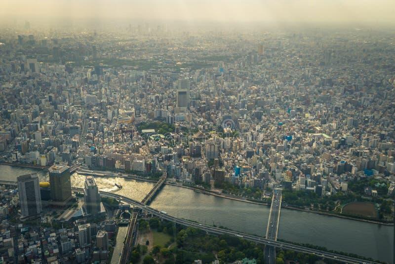 Tokyo - 20 mai 2019 : Vue panoramique de Tokyo vue de la tour de Tokyo Skytree à Tokyo, Japon photographie stock