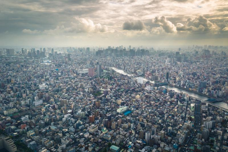 Tokyo - 20 mai 2019 : Vue panoramique de Tokyo vue de la tour de Tokyo Skytree à Tokyo, Japon image libre de droits
