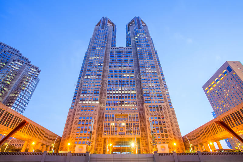 Tokyo Metropolitan Government Building. Houses the headquarters of the Tokyo Metropolitan Government royalty free stock photos