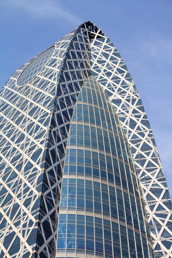 Tokyo - Mode Gakuen. TOKYO - MAY 11: Mode Gakuen Cocoon Tower on May 11, 2012 in Tokyo. It is one of most recognized skyscrapers in the world with Emporis royalty free stock image