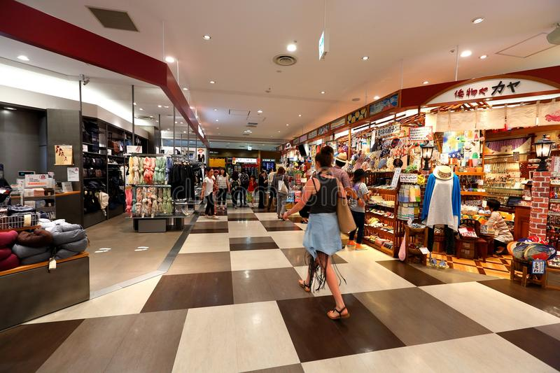 Tokyo: Narita airport before immigration check in retail area. royalty free stock image