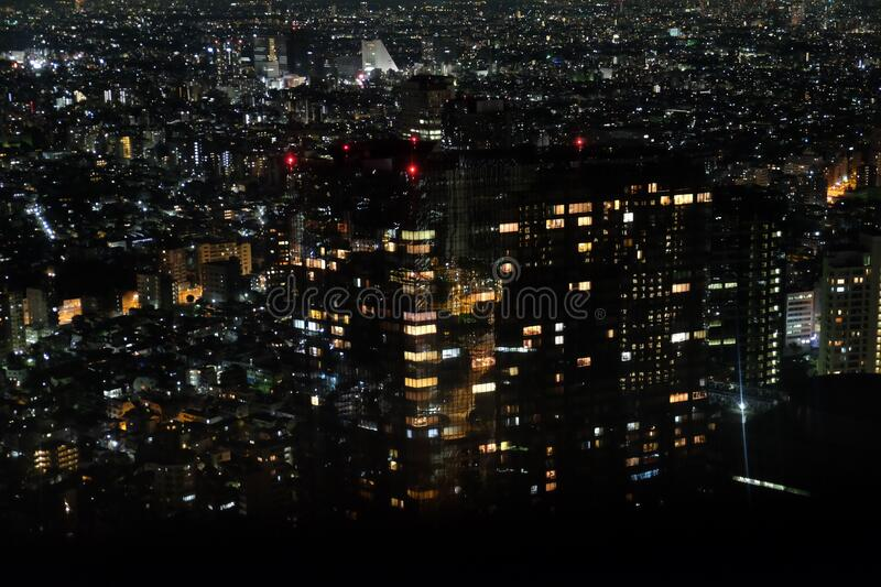 Tokyo night city. Travel view of Tokyo featuring night city. The image location is Tokyo in Japan, Asia stock images