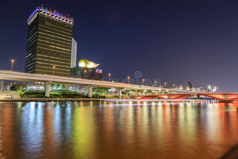 Tokyo at night stock images