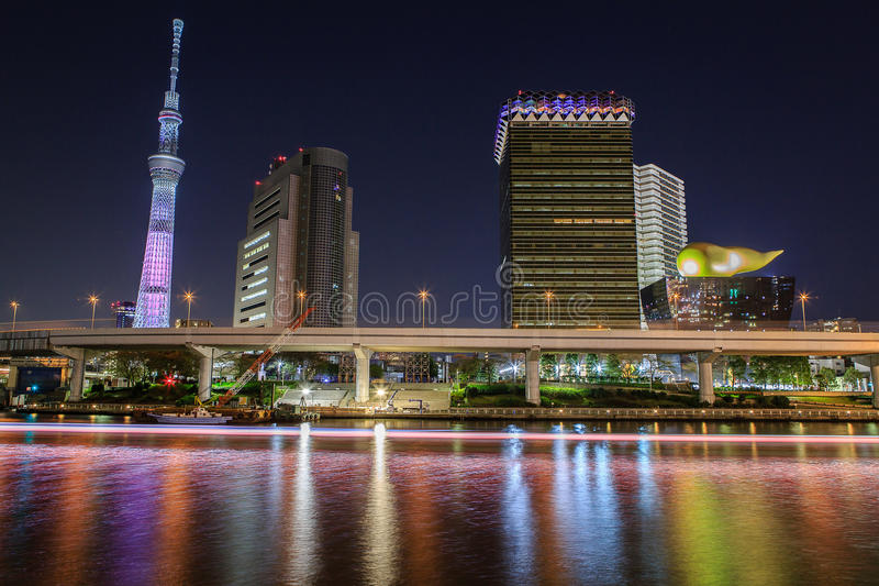 Tokyo at night stock photos