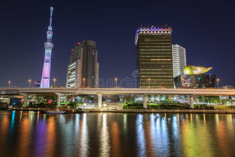 Tokyo at night royalty free stock photography