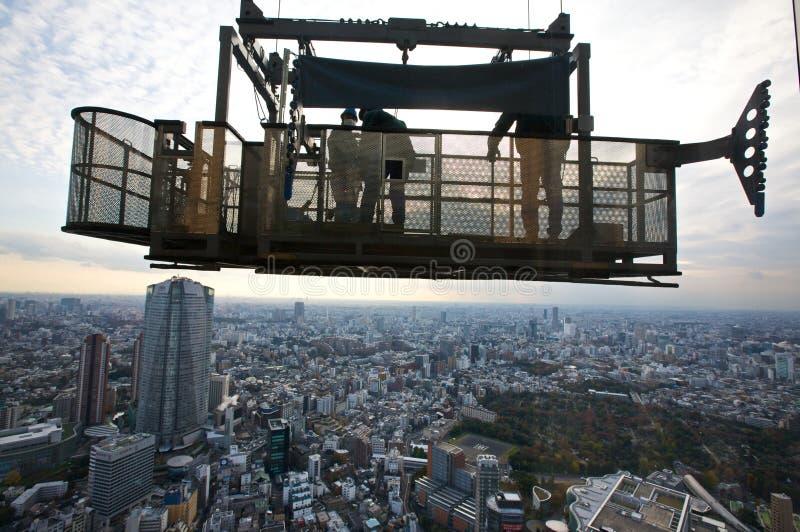 tokyo packningsfönster fotografering för bildbyråer