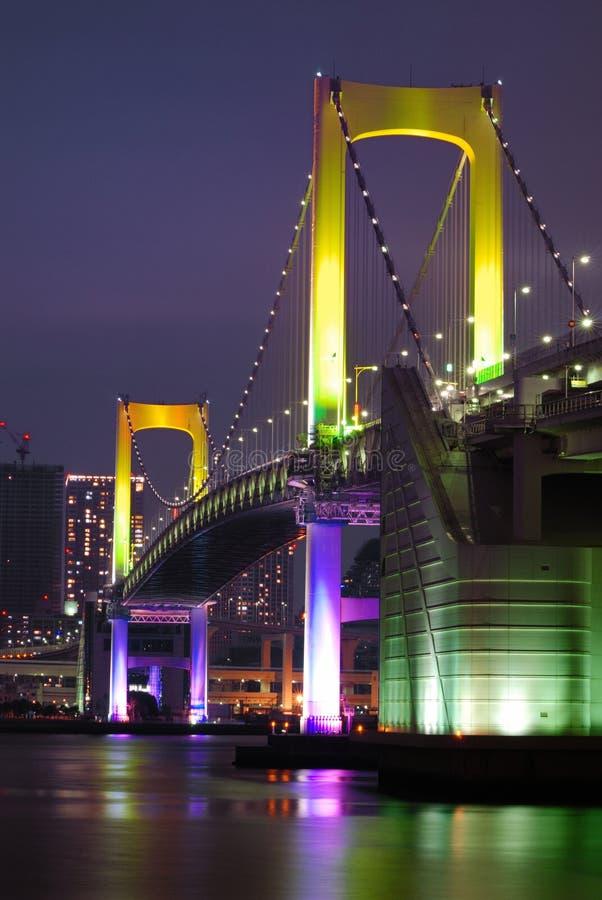 Tokyo Rainbow bridge vertical stock photos