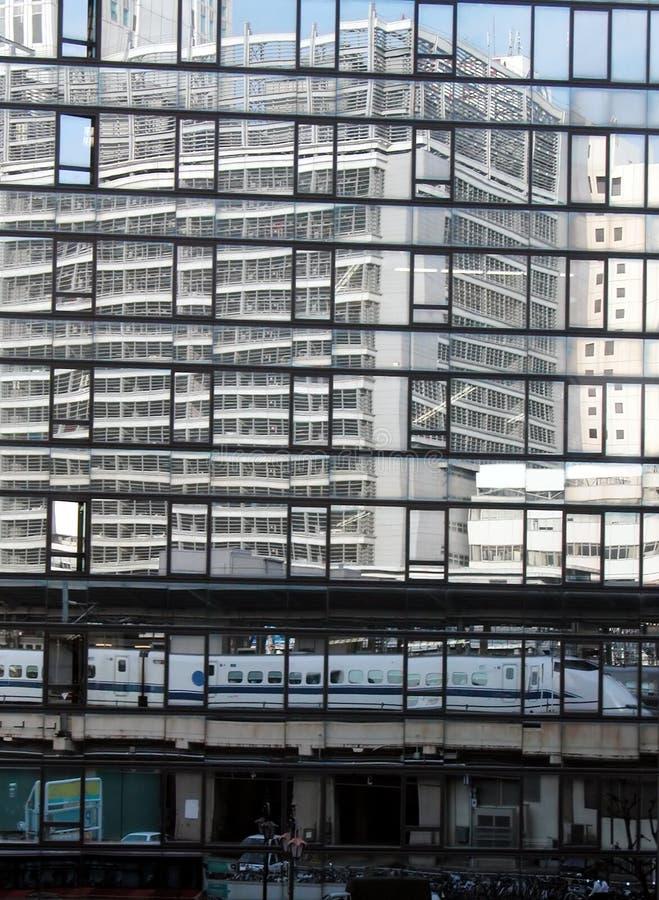 Tokyo reflections royalty free stock photos
