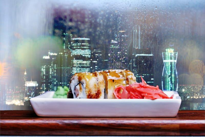 Tokyo restaurangrullar royaltyfria bilder