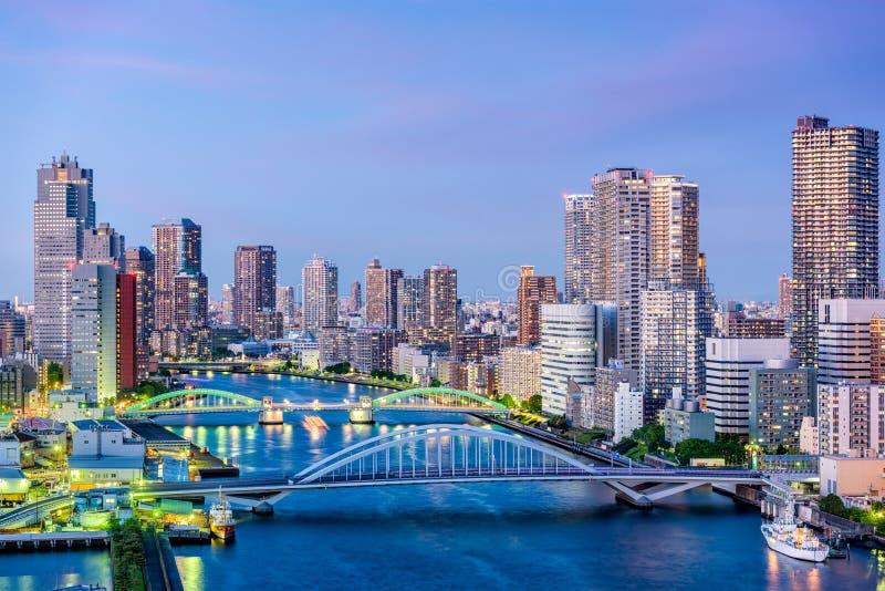 Tokyo, rivière du Japon Sumida images stock