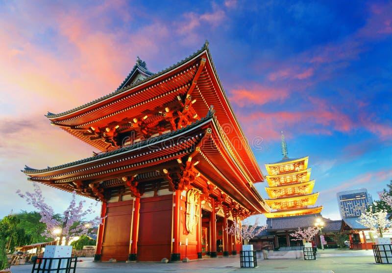 Tokyo - Sensoji-ji, Tempel in Asakusa, Japan lizenzfreies stockfoto