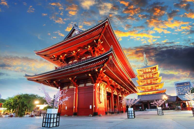Tokyo - Sensoji -sensoji-ji, Tempel in Asakusa, Japan stock foto