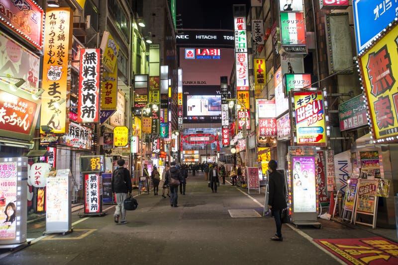 Tokyo, Shinjuku fotografie stock libere da diritti