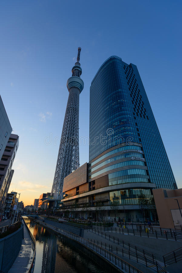 Download Tokyo Sky Tree at dusk editorial stock photo. Image of moment - 39509023