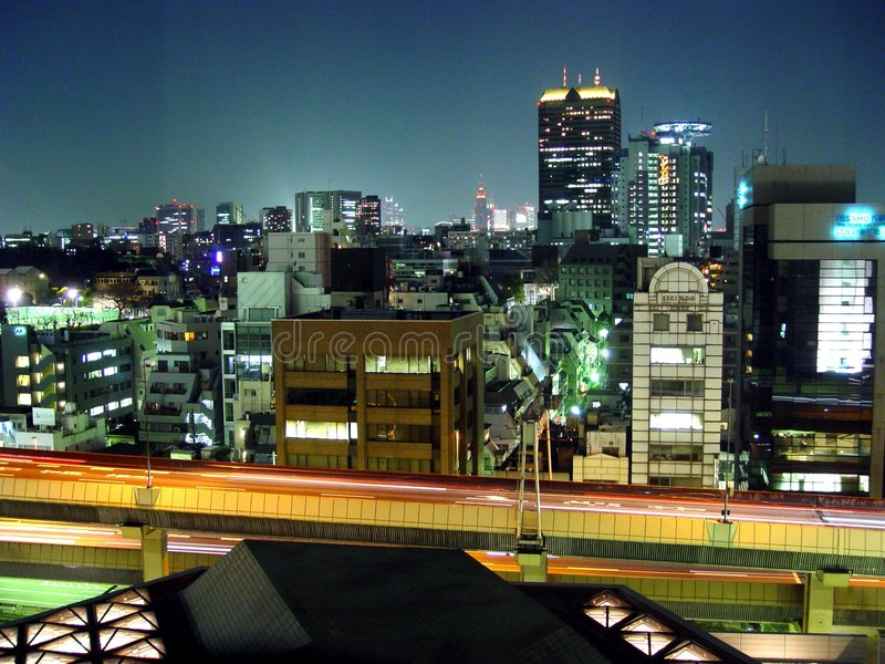 Download Tokyo Skyline stock photo. Image of japan, skyscraper, asia - 113788