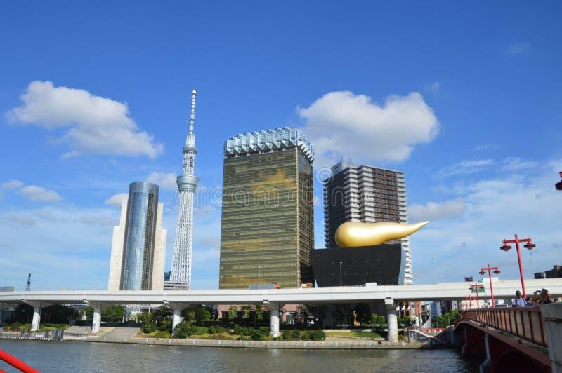 Tokyo Skyline Of The Sumida River Tokyo Japan 2016 stock photos