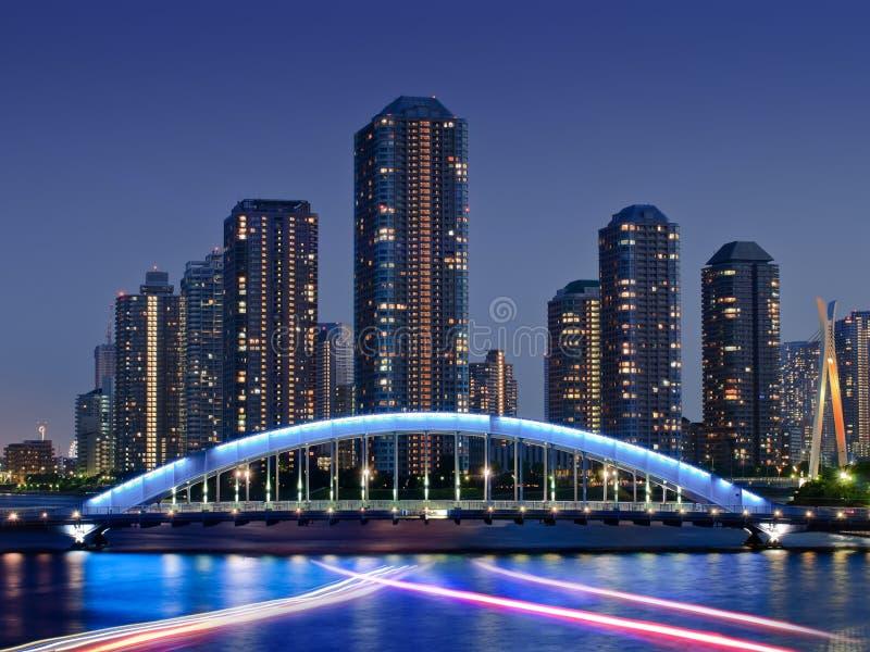 Tokyo stad av framtiden arkivfoto