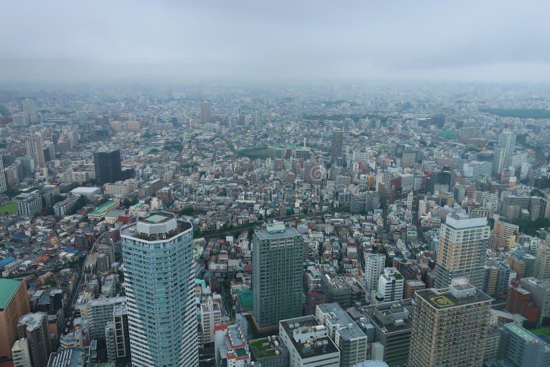 Tokyo stad från himlen royaltyfri bild