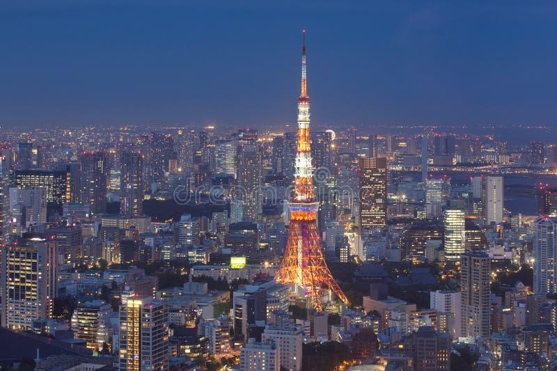 Tokyo-Stadt- und Tokyo-Turm lizenzfreie stockbilder
