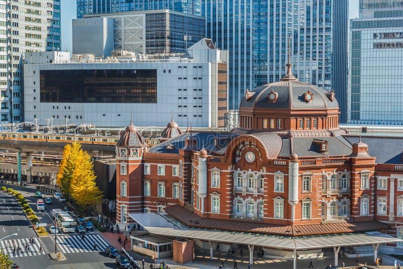 Tokyo station royaltyfri fotografi