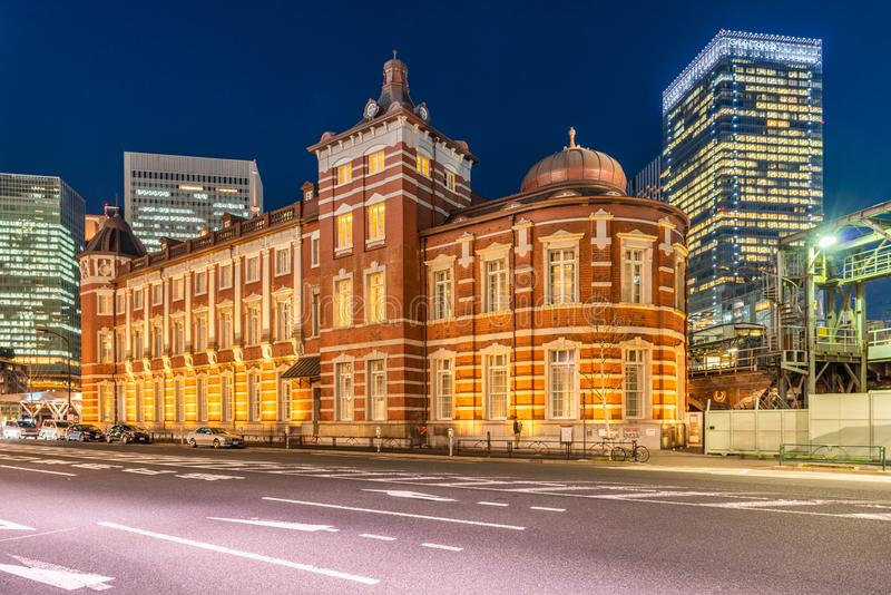 Tokyo Station. The busiest railway station in Tokyo, Japan. Tokyo Station. The historical red brick building and it is the busiest railway station in Tokyo royalty free stock photos