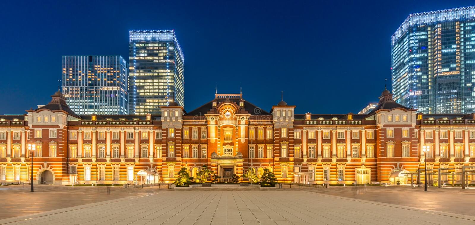 Tokyo Station. The busiest railway station in Tokyo, Japan. Tokyo Station. The historical red brick building and it is the busiest railway station in Tokyo royalty free stock images