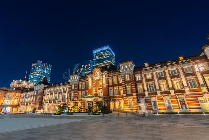 Tokyo Station. The busiest railway station in Tokyo, Japan. Tokyo Station. The historical red brick building and it is the busiest railway station in Tokyo stock photography