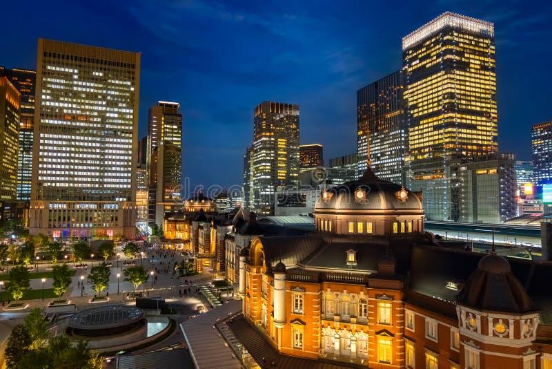 Tokyo station i Tokyo, Japan arkivbild