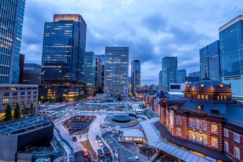 Tokyo Station and its neighborhood stock photography