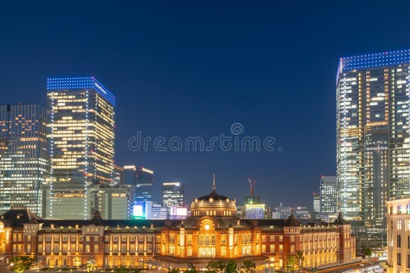 Tokyo Station at Night Scene royalty free stock photos