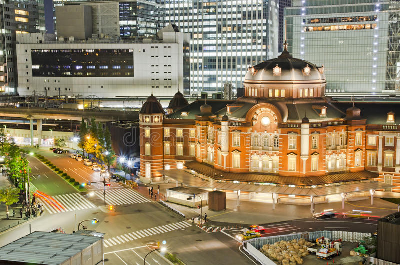 Tokyo Station in Tokyo City royalty free stock photo