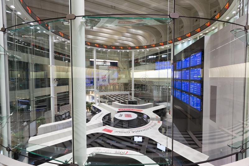 Tokyo Stock Exchange in Japan. The Tokyo Stock Exchange is a stock exchange located in Tokyo, Japan. It is the fourth largest stock exchange in the world by stock photography