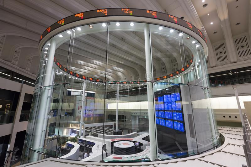 Tokyo Stock Exchange in Japan. The Tokyo Stock Exchange is a stock exchange located in Tokyo, Japan. It is the fourth largest stock exchange in the world by stock photo