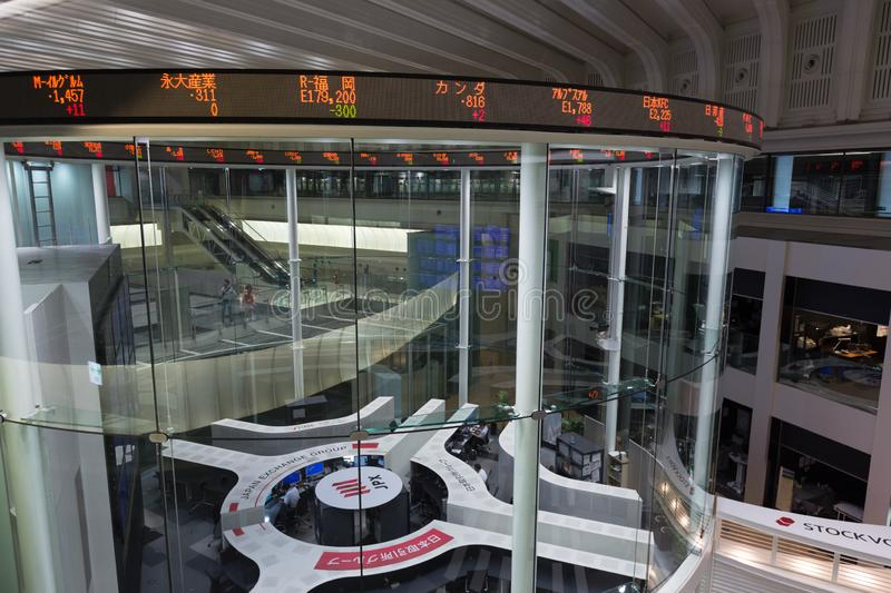 Tokyo Stock Exchange in Japan. The Tokyo Stock Exchange is a stock exchange located in Tokyo, Japan. It is the fourth largest stock exchange in the world by stock image