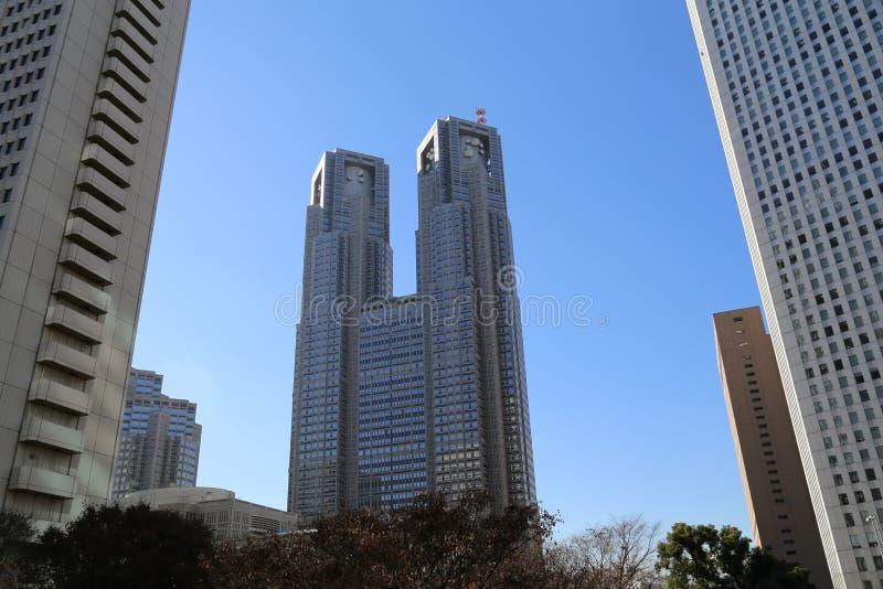 Tokyo storstads- regerings- byggnad royaltyfri foto