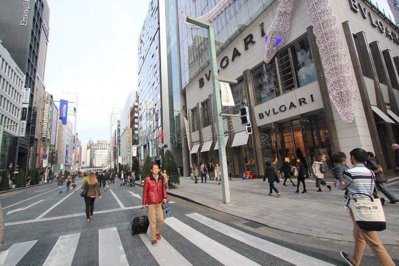 Tokyo-Straßenansicht in Japan lizenzfreies stockbild