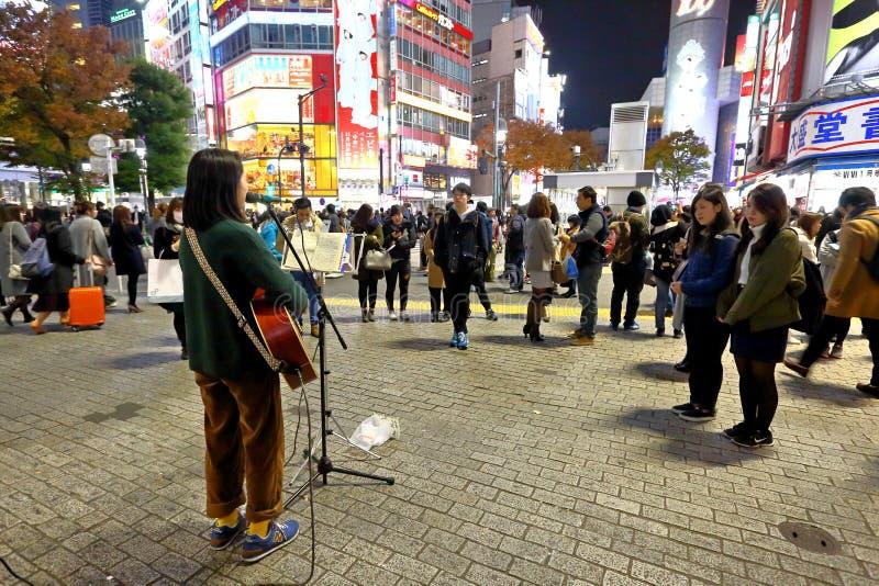 Tokyo: Straatuitvoerder royalty-vrije stock afbeeldingen