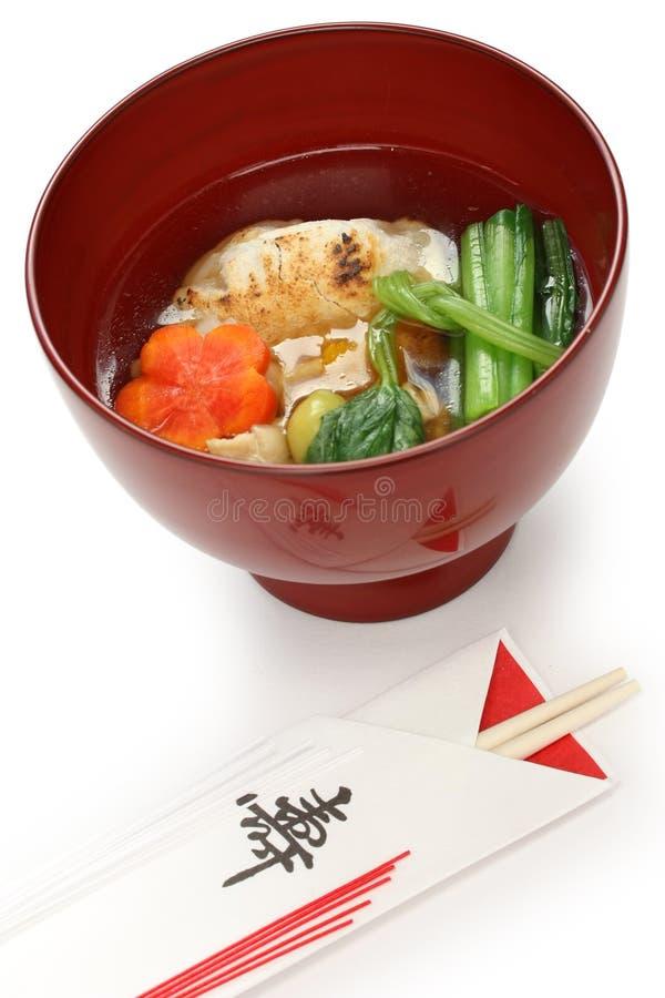 Tokyo Style Zoni , Japanese Rice Cake Soup Stock Photos
